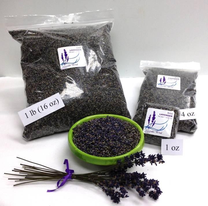 Lavender Wind Bulk Lavender Buds - 2019 - 4 oz.