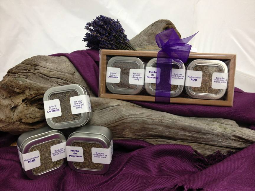 Lavender Wind Wood Gift Set - Three Herbs