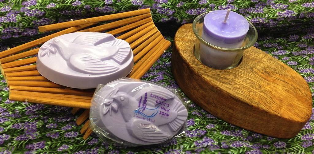 Lavender Wind Goat's Milk Soap Dove Lavender