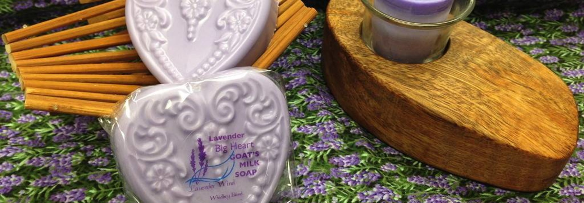 Goat's Milk Soap Big Heart Lavender