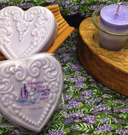 Lavender Wind Big Heart Lavender Goat's Milk  Soap