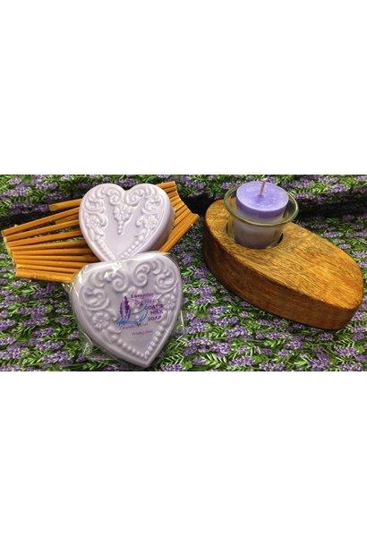 Goat's Milk Soap Big Heart Lavender