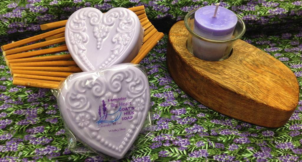 Goat's Milk Soap Big Heart Lavender-1