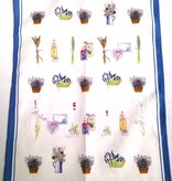 Tea Towel - Portugal, Lav Blue Border