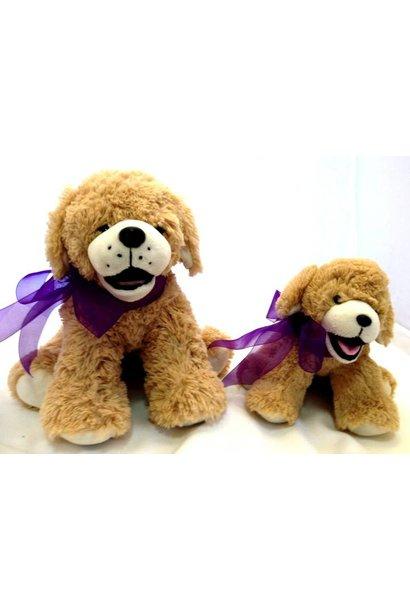"Stuffed Dog, ""Goldie"", 16"""