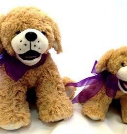 "Lavender Wind Stuffed Dog, ""Goldie"", 8"""