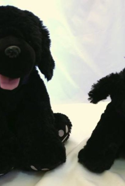 "Stuffed Dog, ""Shadow"", 16"""