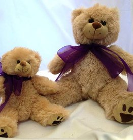 "Lavender Wind Stuffed Brown Bear 8"""