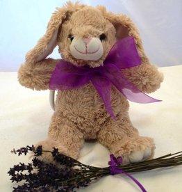 "Lavender Wind Stuffed Bunny, ""Flopsy"", 16"""