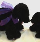 """Lavender Wind Stuffed Dog, """"Shadow"""", 8"""""""