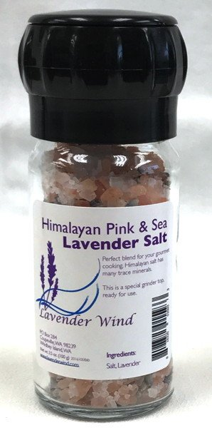 Salt, Lavender - in Grinder Jar-1