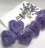 Lavender Wind Small Heart Lavender Goat's Milk Soap
