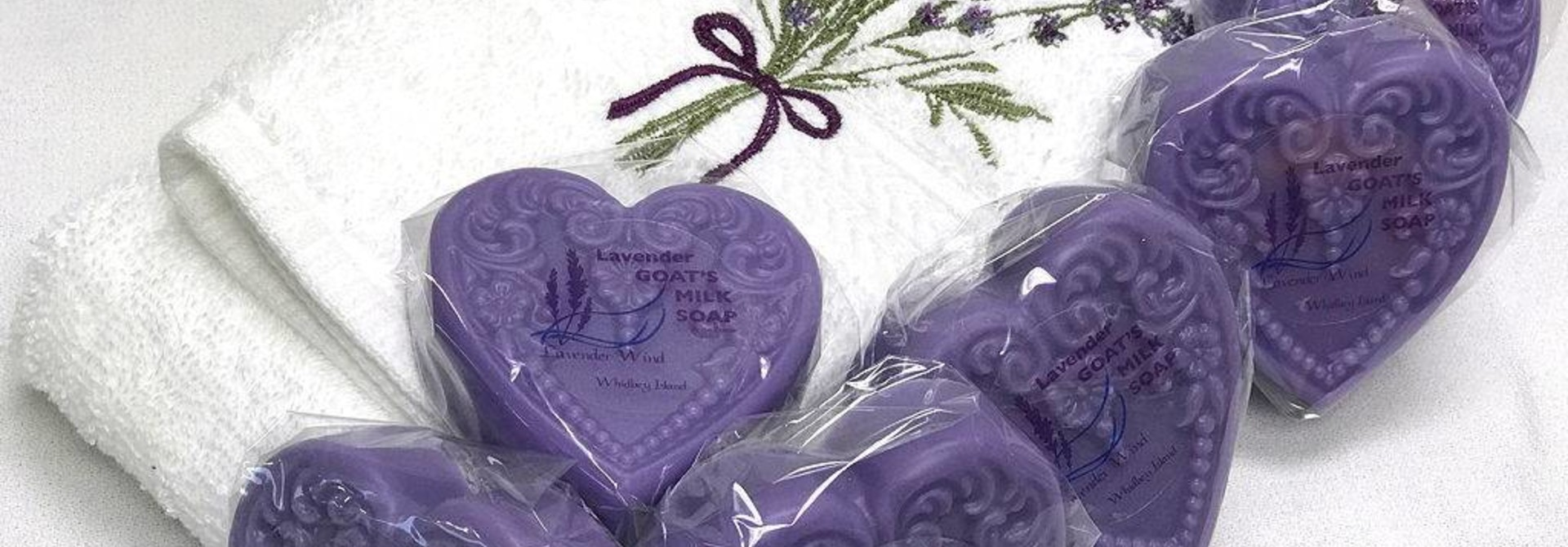 Goat's Milk Soap Small Heart Lavender