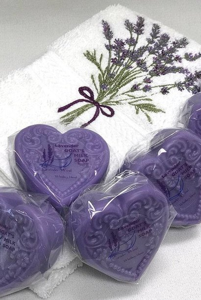 Goat's Milk Soap Small Heart Lavender