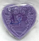 Lavender Wind Goat's Milk Soap Small Heart Lavender