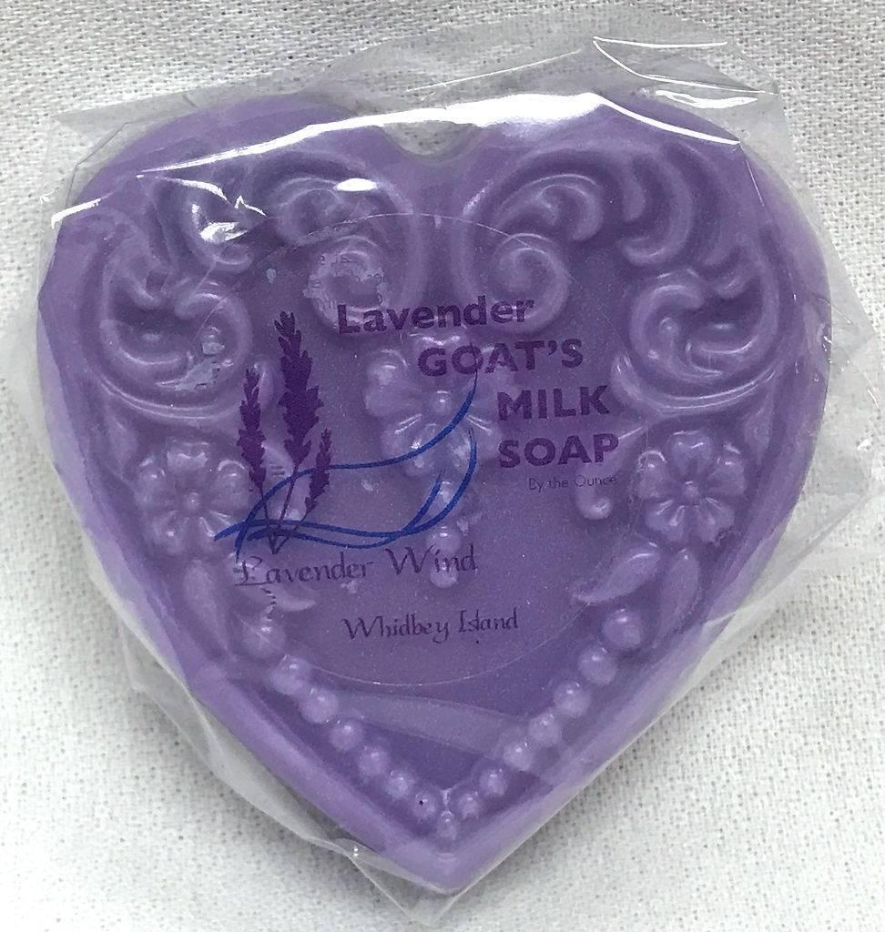 Goat's Milk Soap Small Heart Lavender-2