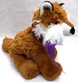 """Lavender Wind Stuffed Fox, """"Roxy"""", 8"""""""