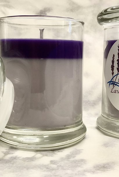 Lavender Tranquility Candle - Glass Large