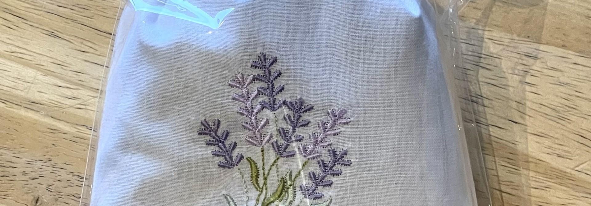 Sachet, Lav Embroidered, Moyen (reg & heart)
