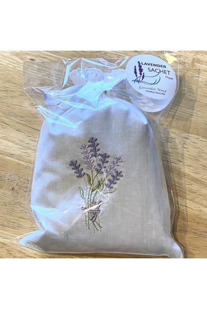 Sachet, Lav Embroidered, Moyen Regular