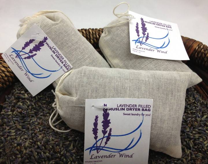 Lavender Wind Muslin Lavender Dryer Bag