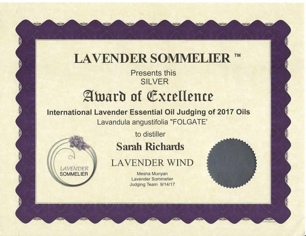 Lavender Wind Folgate Essential Oil 1oz