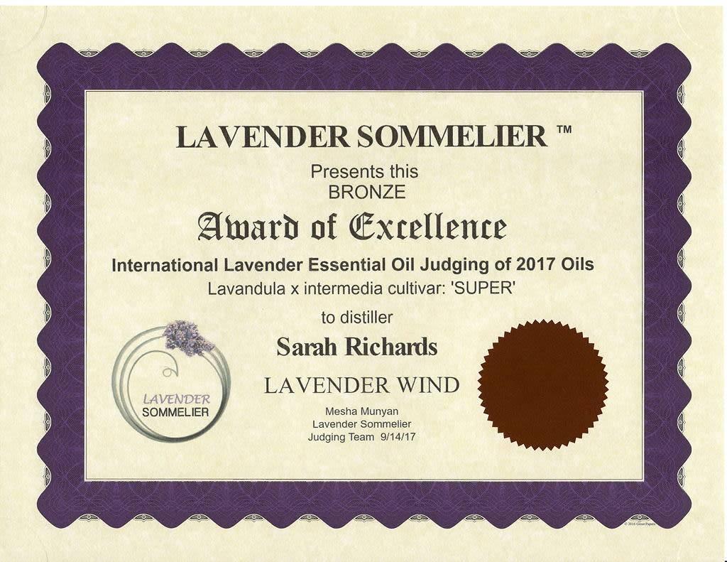 "Lavender Wind Lavender ""Super"" Essential Oil"