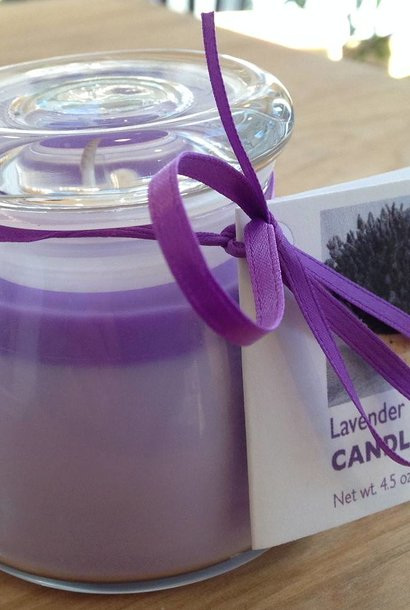 Lavender Candle - in Glass