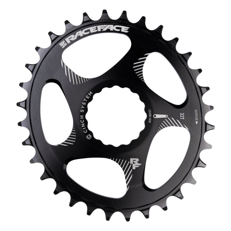 Race Face Race Face Narrow Wide Cinch Oval Chainring - Black