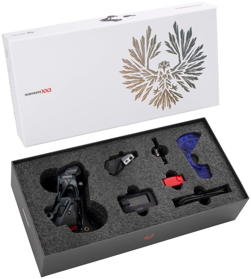 SRAM SRAM XX1 Eagle AXS Upgrade Kit - Rear Derailleur, Battery, Eagle AXS Controller w/ Clamp, Charger/Cord