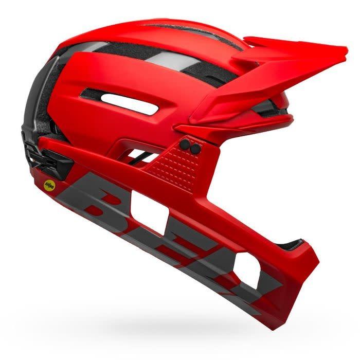 bell Bell Super Air R MIPS Helmet - Matte Red / Grey