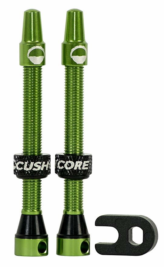 CushCore Cushcore Valve Stems 55mm Green Pair
