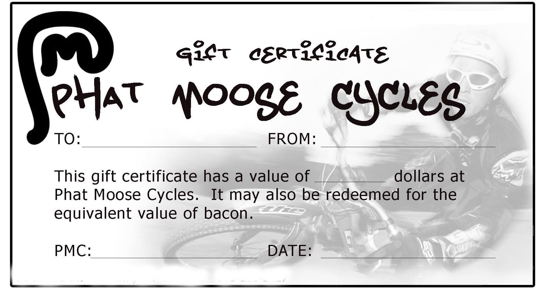 PMC Gift Certificate