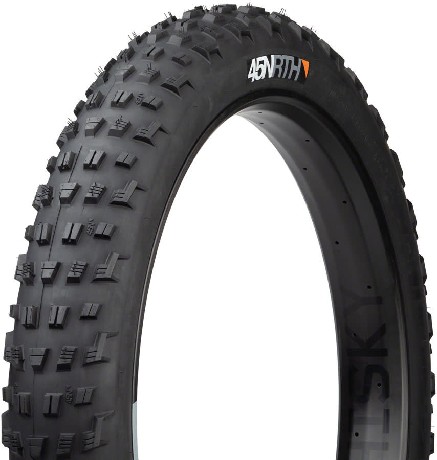 45NRTH 45NRTH Vanhelga Tire - 26 x 4.2, Tubeless, Folding, Black, 120tpi