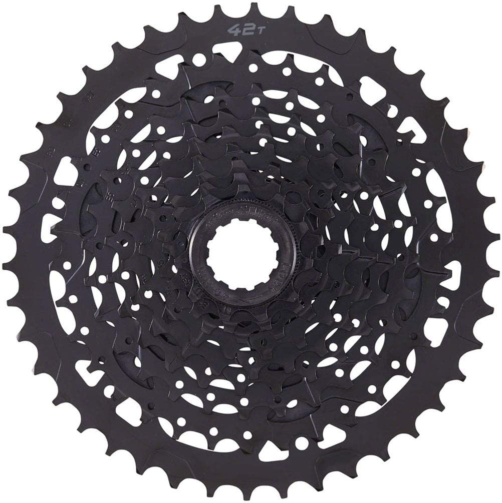 Microshift microSHIFT ADVENT Cassette - 9 Speed, 11-42t, Black, ED Coated, Alloy Large Cog