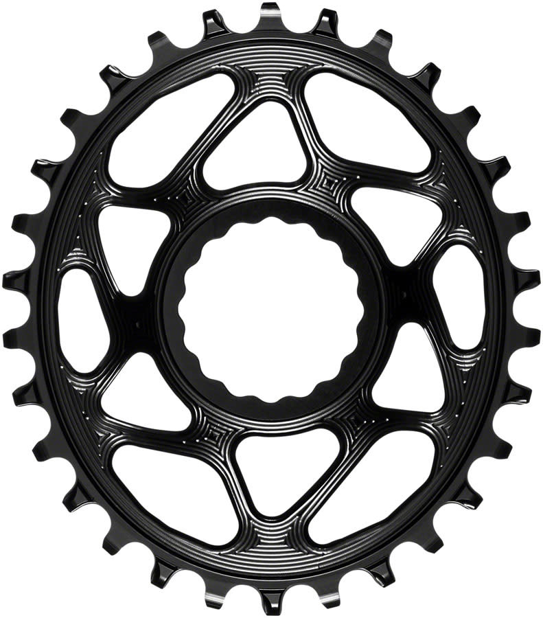 absoluteBLACK absoluteBLACK Oval Narrow-Wide Direct Mount Chainring - 30t, CINCH Direct Mount, 3mm Offset, Black