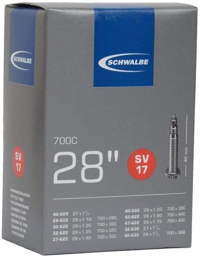 Schwalbe Schwalbe Tube #16 700 x 28/32 Presta Valve, Standard Length 40mm