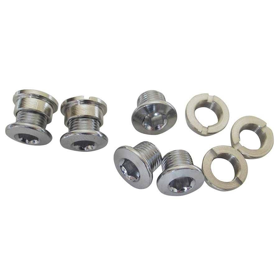 Varia Varia, Bolts & nuts for singlespeed chainrings, Chrome-plated steel, 6.5mm, 5 units per bag