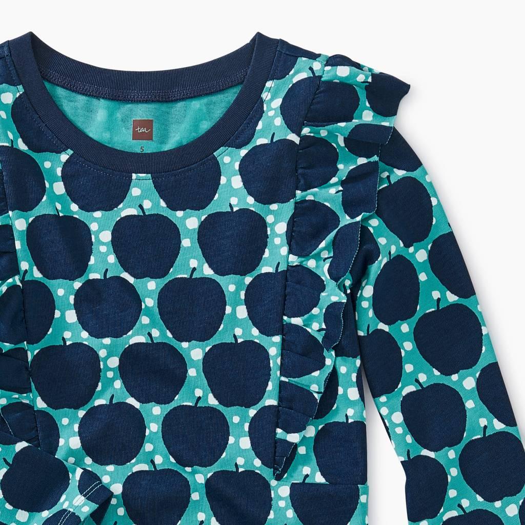 Tea Collection Apple Wax Ruffle Shoulder Dress