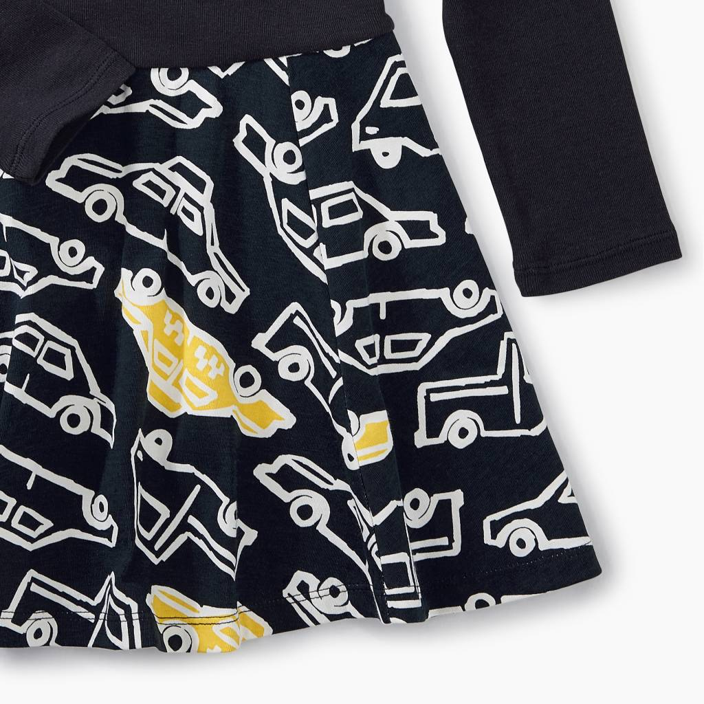 Tea Collection Taxi Traffic Skirted Dress