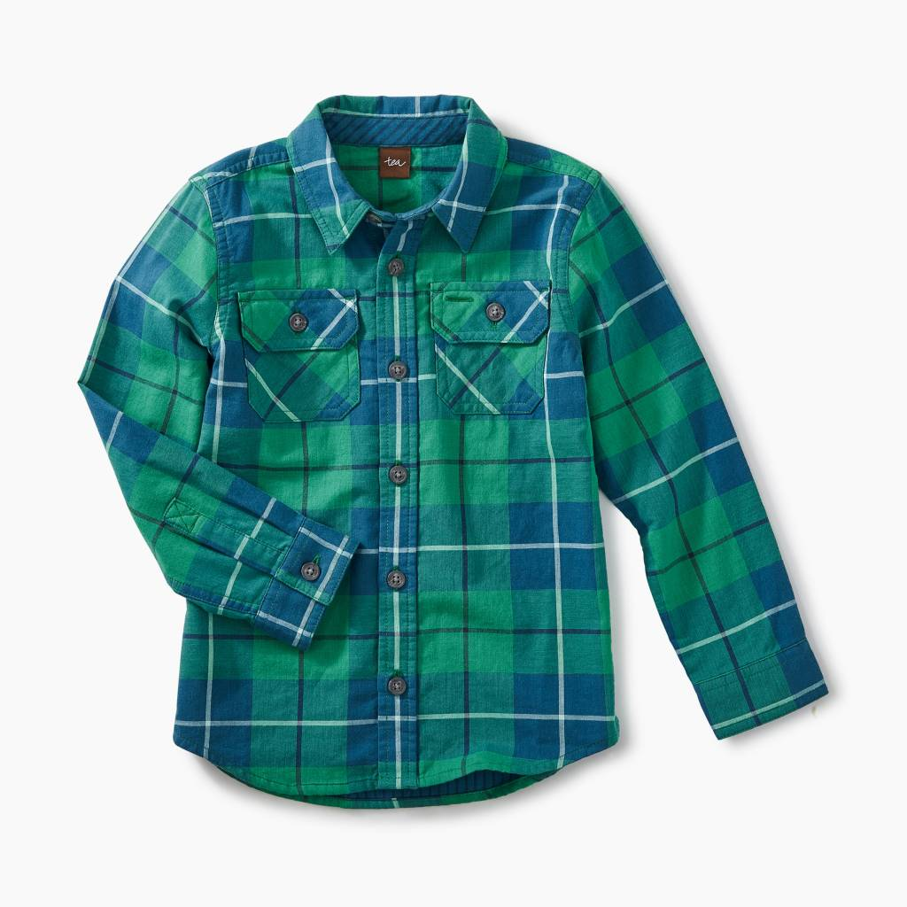 Tea Collection Tartan Plaid Shirt