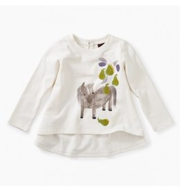 Tea Collection Pears and Pony Baby Tee