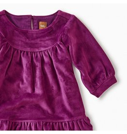 Tea Collection Velour Ruffle Baby Dress