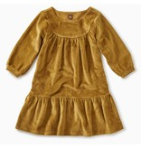 Tea Collection Velour Ruffle Dress