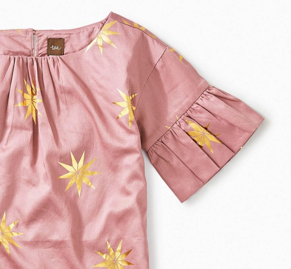 Tea Collection Scandi Star Ruffle Sleeve Dress