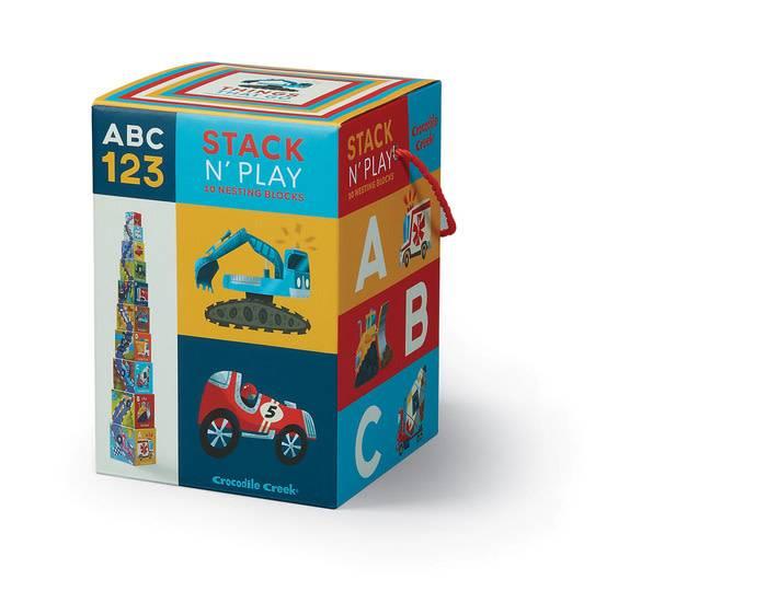 Crocodile Creek Stack n' Play/ Things That Go ABC 123