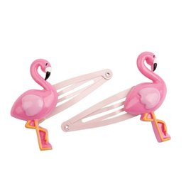 Sunnylife Hair Clips - Flamingo