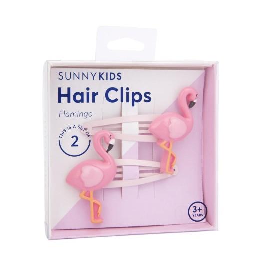 Sunnylife Hair Clips - Flamingo