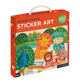 Petit Collage Animal Friends Sticker Art Kit