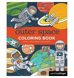 Petit Collage Coloring Book - Outer Space